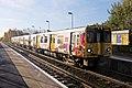 Merseyrail Class 507, 507002, Old Roan railway station (geograph 3786852).jpg