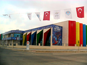 Mersin Gymnastics Hall, Turkey.JPG