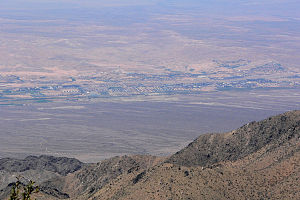 Virgin Valley - view of Mesquite, NV from Virgin Peak,  (center of valley)