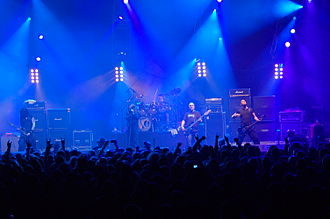 Paradise Lost (band) - Paradise Lost live in 2007 with former drummer Jeff Singer.