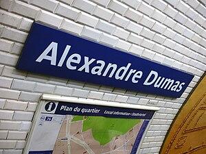 Alexandre Dumas (Paris Métro) - Image: Metro de Paris Ligne 2 Alexandre Dumas 05