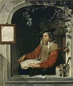 The  Apothecary or The Chemist by Gabriël Metsu (c. 1651–67).