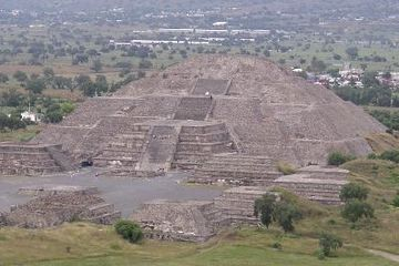 The Pyramid of the Moon, one of several monuments built in Teotihuacán