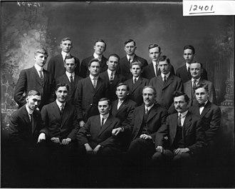College literary societies - Members of the Miami University Adelphic Association, 1913.