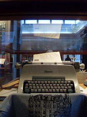James A. Michener - Michener's typewriter at the James A. Michener Art Museum in Doylestown, Pennsylvania