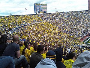 Student section - Student section at The Big House.