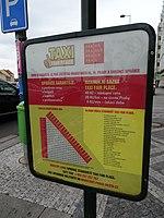 Milady Horákové, Hradčanská, stanoviště taxi, ceník.jpg