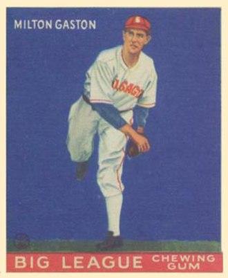 Milt Gaston - 1933 Goudey baseball card of Milt Gaston