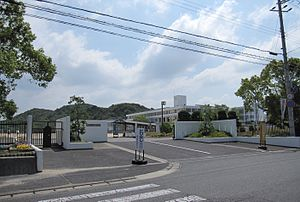 Minamiawaji City Nandan junior high school.JPG
