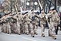Ministru prezidents Valdis Dombrovskis vēro Nacionālo bruņoto spēku vienību militāro parādi 11.novembra krastmalā (8196549430).jpg