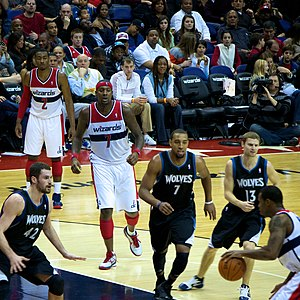 Derrick Williams (basketball) - Image: Minnesota Timberwolves vs Washington Wizards