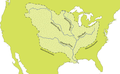 Mississippi River Watershed Map North America.png