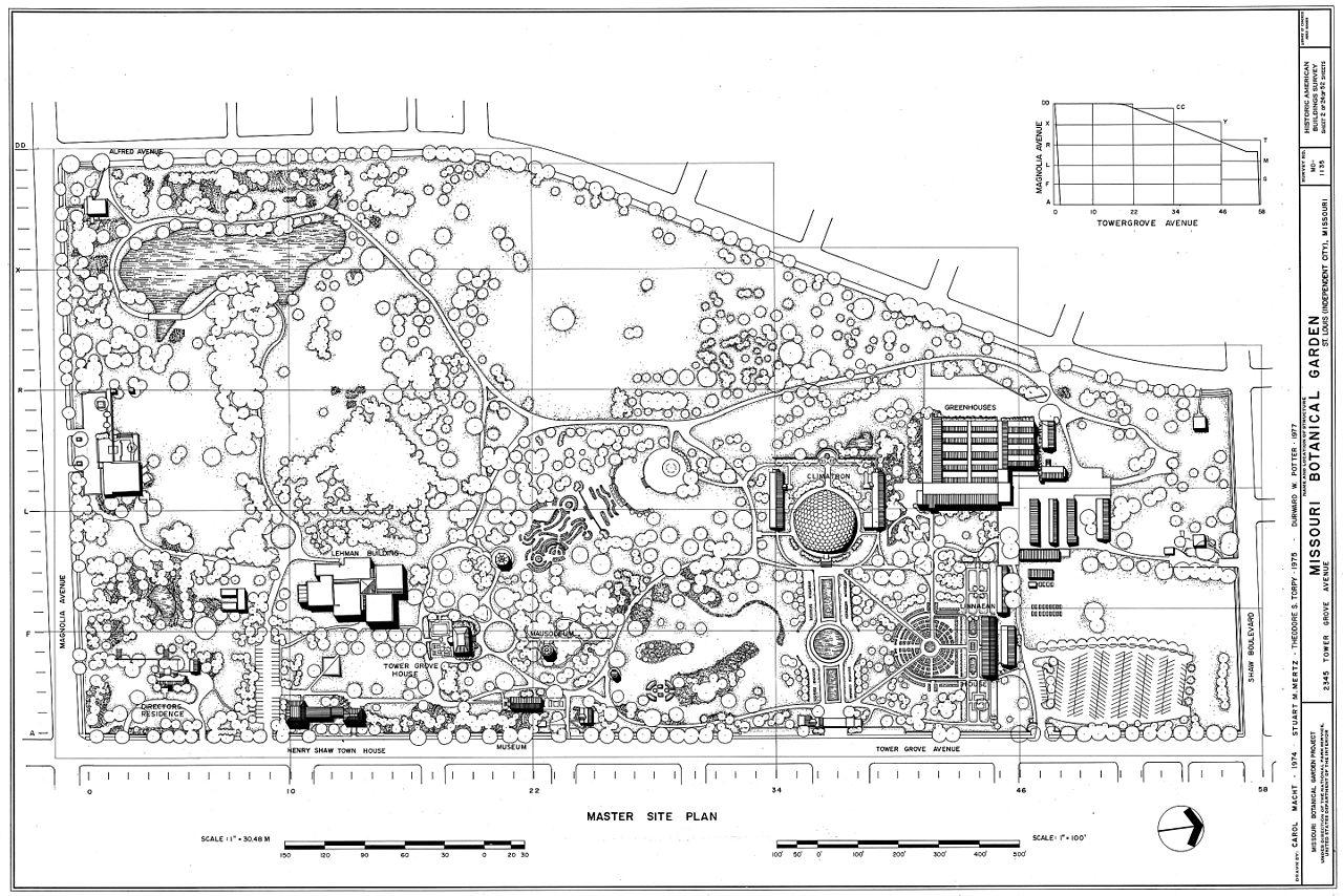 file missouri botanical garden plan drawn 1974 wikimedia commons. Black Bedroom Furniture Sets. Home Design Ideas