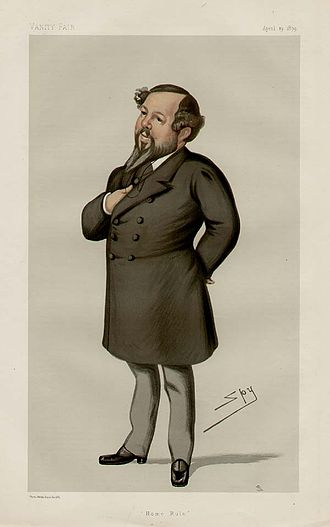 """Mitchell Henry - """"Home Rule"""". Caricature by Spy published in Vanity Fair in 1879."""