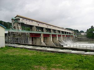 Miyanaka dam is JR east's dam for electric pow...