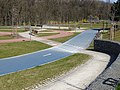 Modřany, Botevova, dopravní hřiště, přechod na bruslařské dráze.jpg