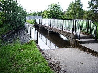 Monkland Canal - Weir at Old Palacecraig