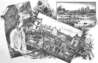 Stonehouse, South Lanarkshire - Image: Montage.falls.fair.G lassford.bridge.Ston ehouse
