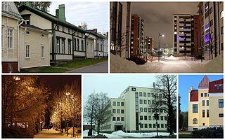 Vanhatulli District of Oulu in Finland