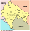 The Kingdom of Montenegro in 1913