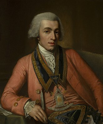 Joseph Montfort - Portrait of Joseph Montfort, by Nathaniel Dance-Holland, on his visit to London in 1767.