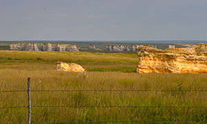 Western Interior Seaway -  Monument Rocks, located 25 miles south of Oakley, Kansas.