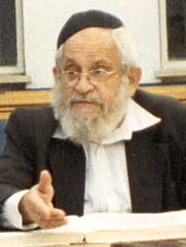 photo of Mordechai Breuer wearing a Kippah