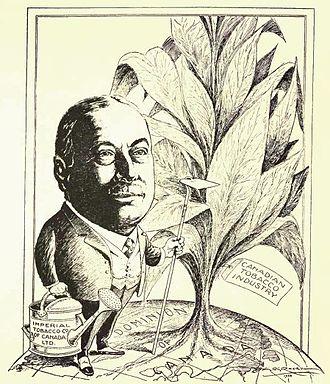 Mortimer Davis - Sir Mortimer Barnett Davis from Canadian men of affairs in cartoon (1922)