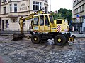 Moskevská, rekonstrukce, bagr Atlas 1304 K.jpg