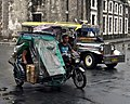 Motorized tricycle, jeepney, Soriano Avenue, 2018 (01).jpg
