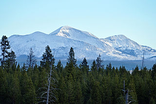 White Peaks mountain in United States of America