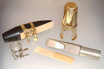 Two mouthpieces for tenor saxophone: the one o...
