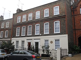 Mozart family grand tour - 180 Ebury Street, Pimlico, where the Mozarts stayed in the summer of 1765