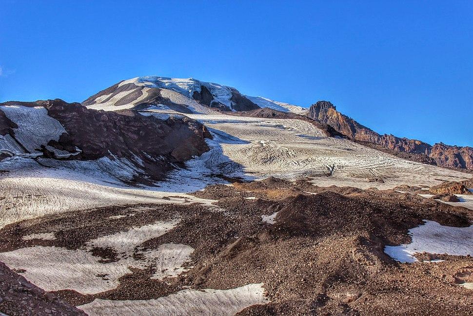 Mt. Adams Glaciers above Bird Creek Meadows