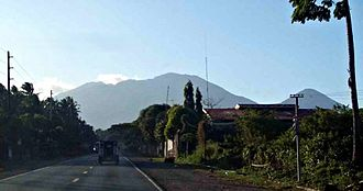 Quezon - Mount Banahaw seen from the Atimonan-Pagbilao border