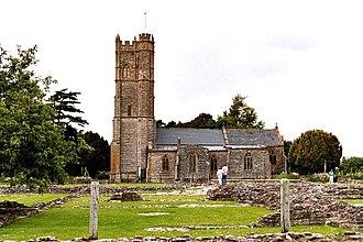 Muchelney - Image: Muchelney Parish church, abbey foreground ruins