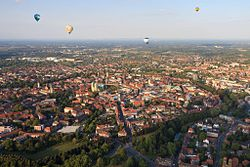 Aerial view of Münster