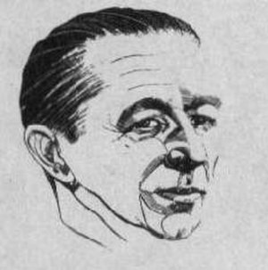 Murray Leinster - Leinster as depicted in Amazing Stories in 1953