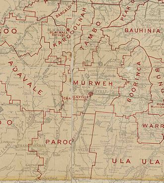 Shire of Murweh - Map of Murweh Division and adjacent local government areas, March 1902