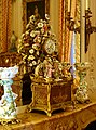 Musical clock, maker unknown, Paris, mid 1700s with clock movement 1855-1886 - Waddesdon Manor - Buckinghamshire, England - DSC07752.jpg