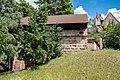 Nürnberg, Stadtbefestigung, Spittlertormauer nördlich des Durchbruchs am Spittlertor 20170616 001.jpg