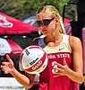 NCAA sand volleyball match at FSU, March 2014 (13921062471).jpg