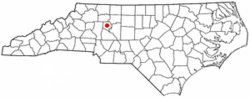 Location of Mocksville, North Carolina