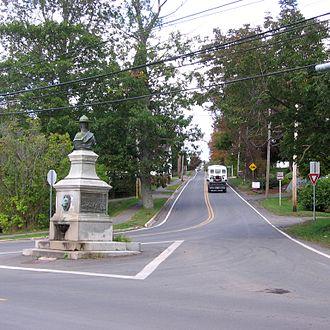 Canning, Nova Scotia - Harold Lothrop Borden Monument in Canning, NS