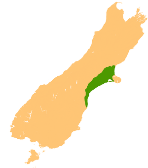 Canterbury Plains - Location of the Canterbury Plains