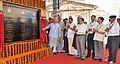Narendra Modi dedicating the newly constructed railway line between Shri Mata Vaishno Devi Katra-Udhampur Section to the Nation by unveiling the plaque, at Shri Mata Vaishno Devi Katra Railway Station.jpg