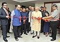 Narendra Modi inaugurating an exhibition on Late Shri G.L. Dogra to mark his birth centenary, at Jammu. The Governor of Jammu and Kashmir, Shri N.N. Vohra, the Union Minister for Finance.jpg