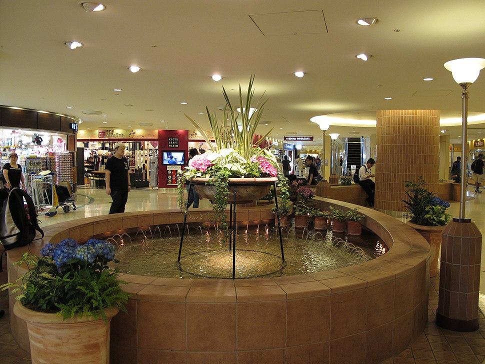 Narita International Airport T1 Airport Mall fountain 2013