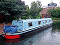 Narrowboat moored by the National Indoor Arena, Birmingham - geograph.org.uk - 1746117.jpg