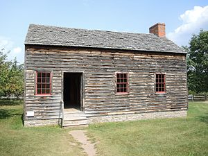 Nathaniel Rochester - Rochester's house from Dansville, now at the Genesee Country Village and Museum
